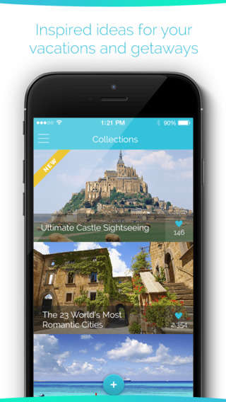 Travel Wishlist Apps - Eighty Compiles Your Dream Destinations and Helps You Get There