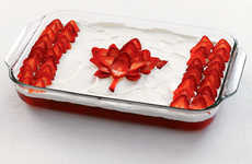 Canadian Flag Cakes