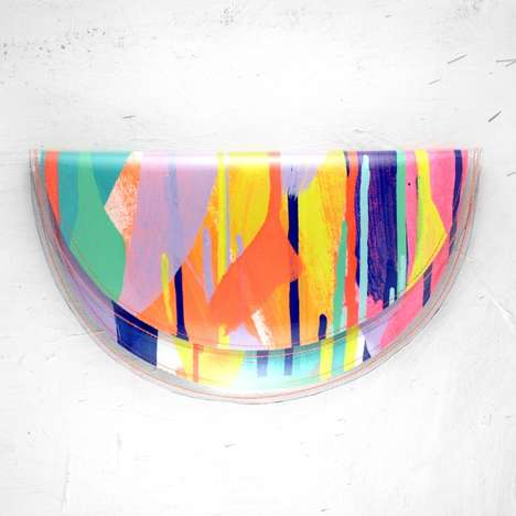 Neon Half Moon Clutches - This Tiff Manuell Handbag Makes an Artistic Style Statement