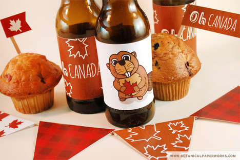 Patriotic Party Printables - Botanical Paperworks' Festive Decorations Spark Canada Day Spirit