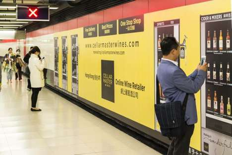 Virtual Vino Pop-Ups - This Virtual Wine Vending Machine Pop-Up is Inside a Subway Station
