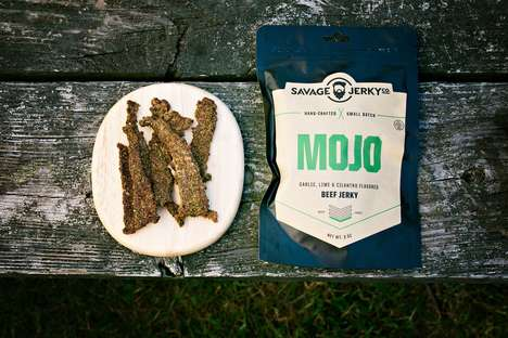 Brutish Artisanal Jerky - The Kickstarter-Launched Savage Jerky Co Boasts Ferocious Branding