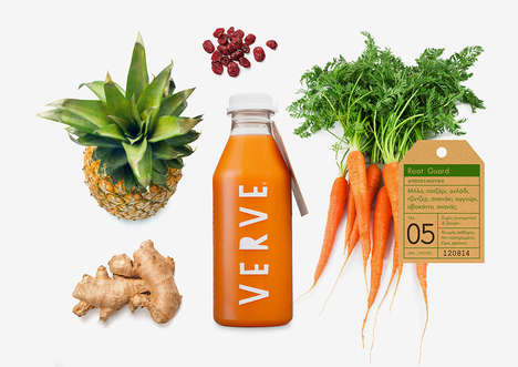 Detoxifying Juice Branding - Verve Juices Has a New Look for Its Line of Healthy Cleansing Drinks