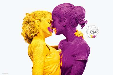 Colored Powder Campaigns - The Zim Campaign Expresses How 'Love is Colorful'