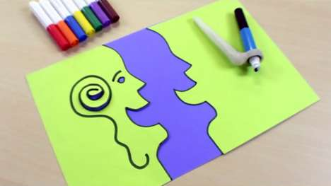 Crafty Marker Scissors - The ColorCutter ShapeShark Transforms Doodles into Creative Cutouts