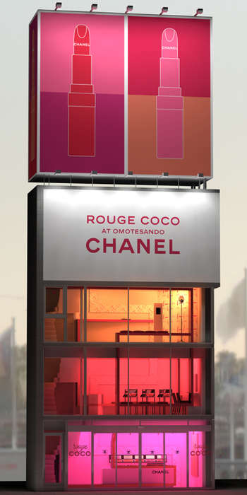 Lipstick-Shaped Shops - Chanel's Rouge Coco Japan Pop-Up Features Multi-Levels of Interaction