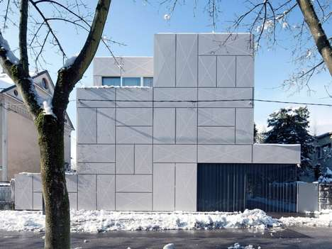 Layered Rectangular Architecture - The Villa Criss-Cross Envelope by OFIS Embraces Simplicity
