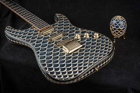 Rare Opulent Guitars - This Luxurious One-of-a-Kind Custom Stratocaster is Inspired by a Faberge Egg