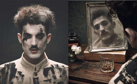 Silent Film Star Editorials - ODDA Magazine's Decades Issue is an Homage to Charlie Chaplin Style