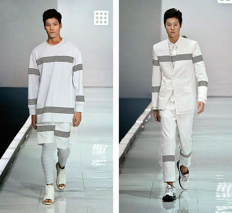 Relaxed Monochromatic Menswear - Jehee Sheen's Latest Presentation Blends Sleek and Sporty Elements