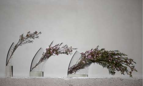 Wind-Blown Bouquet Holders - A Curved Vase was Inspired by the Arching Shapes of Costal Trees