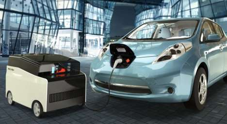 Electric Vehicle Charging Robots - FreeWire's Mobi Charger is an Autonomous and Mobile Solution