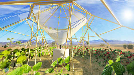 Dew-Harvesting Greenhouses - Roots Up Designs a Plant House that Waters Itself