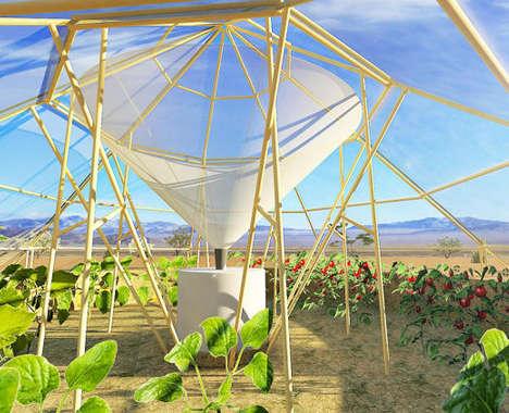 Dew-Harvesting Greenhouses