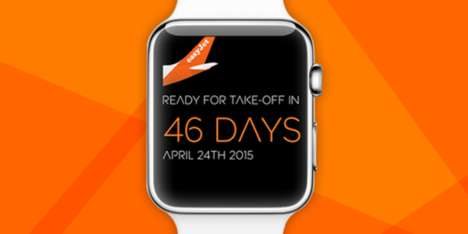 Wristworn Travel Apps - easyJet's Mobile Travel App Caters to Apple Watch Users