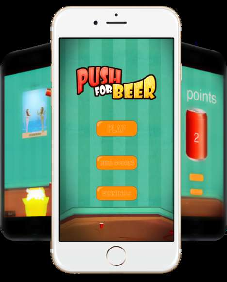 Gamified Beer Apps - Push For Beer Lets Users Win Free Brews by Collecting Points