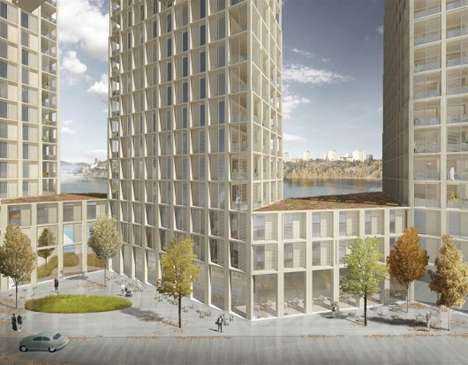 Wooden High-Rise Buildings - These Swedish Apartment Blocks Will Be Constructed From Wood