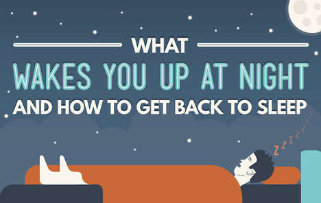 Sleep Improving Guides - This Infographic Addresses Getting Back to Sleep in the Middle of the Night
