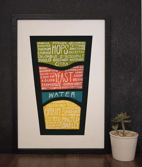 Recipe-Sharing Beer Posters - Etsy's Know What You Drink Poster Depicts a Brew's Ingredients