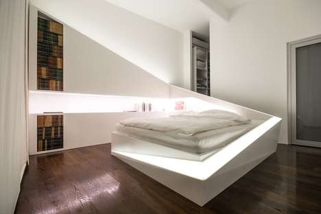 Angular Partitioned Sleepers - Ice Bed Has an Encompassing Separator to Sharpen Up Studio Apartments