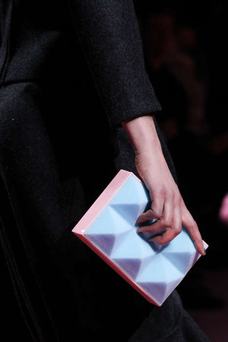 Foam Brick Bags - The Mary Katrantzou Foam Clutches Capture Innocence and Youth
