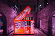 Giant Inflatable Shoeboxes - This Nike Air Max Day Shanghai Installation is a Towering Shoebox
