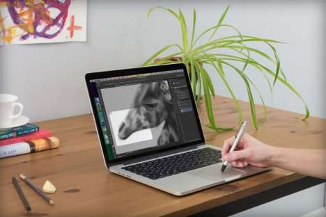 Drawing Tablet Laptops - The Inklet App Uses Force Touch Tech via Styluses to Edit Images on Screen