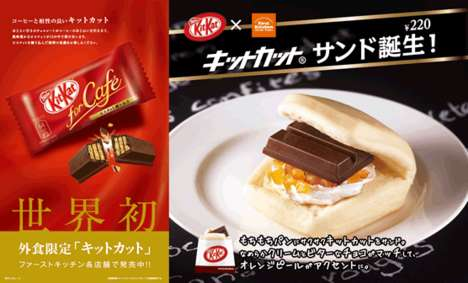 Chocolate Bar Sandwiches - First Kitchen's Kit Kat Sandwich Turns a Snack into a Meal