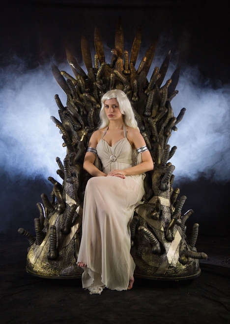 Fantasy Phallic Furniture - UK's Bondara Creates a Dildo Throne in Honor of 'Game of Thrones'