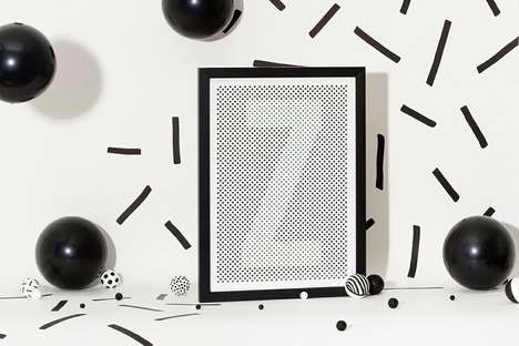 Halftone Alphabetic Art - Silvia Baz Makes Dot Letter Prints to Decorate with Spelled-Out Graphics