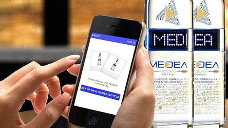 Vodka Personalization Apps - Medea Vodka's App Helps with the Creation of Custom Bottle Messages