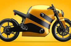 Buzzing Bumblebee Motorbikes - The Stripes of a Black and Yellow Motorcycle Create Insectile Look