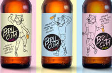 Party Beer Packaging - Brucuta Features Playful Labels that Allude to Frivolity and Superstition