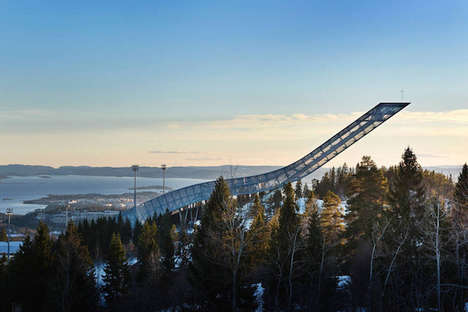 Ski Jump Accommodations - This Breath-Taking Airbnb Oslo Penthouse Sits 200 Feet Off the Ground