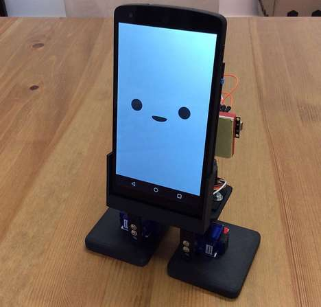 Intuitive Smartphone Robots - MobBob is a Charming 3D-Printed Robot with its Own Set of Legs