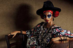 Vogue Japan's Colorful Story Pays Homage to Day of the Dead Fashion