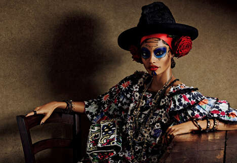 Ethnic Opulence Editorials - Vogue Japan's Colorful Story Pays Homage to Day of the Dead Fashion