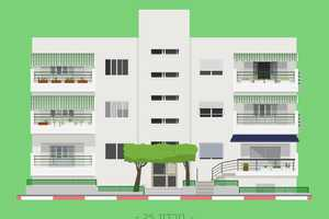 These Minimalist Posters Detail the Facades of Tel Aviv Buildings