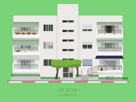 Graphic Architectural Prints - These Minimalist Posters Detail the Facades of Tel Aviv Buildings