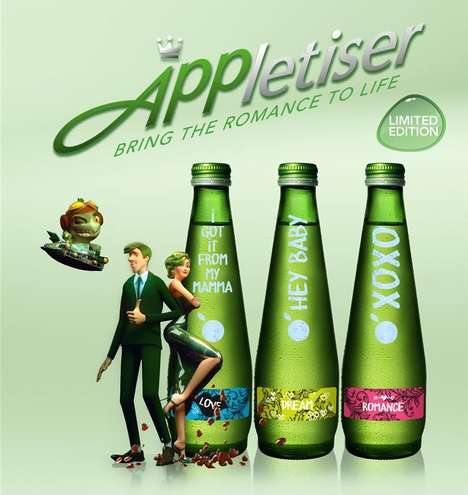 Augmented Reality Packaging - A Limited Edition Appletiser Boasts an Augmented Reality Bottle
