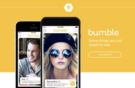 Female-Empowering Messaging Apps - The Bumble App for Dating Only Lets Women Start Conversations