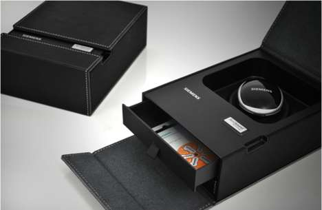 Deluxe Electronics Packaging - A Hearing Aid Box is an Elegant and Organized Place to Store Gadgets