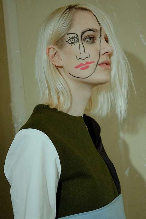Eerie Two-Faced Makeup - The Jacquemus AW15 Collection Reflects on Society's Double Standard