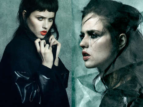 Sultry Goth Editorials - Isis Bataglia Stars in Glassbook Magazine's Captivating Exclusive