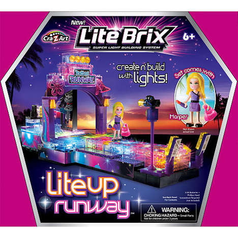 Glowing Fashion Toys - The Lite Brix Encourages Girls to Build a Radiantly Techy-Driven Runway