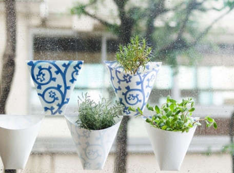 Stick-On Window Planters - Spoon and Tomago's Paper Planter Are Versatile and Compact