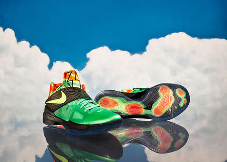 Weatherman-Inspired Shoes - The Nike KD7 Weatherman Pays Homage to Weather Green Screens
