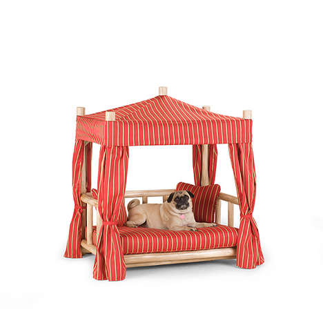 Luxurious Pet Beds - La Lune Collection's Dog Cabana Bed is Chic and Comfort-Focused
