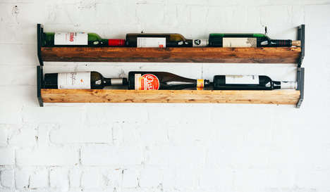 Rustic Wine Rack Accessories - This Product from JM & Sons is Made from Reclaimed Wood