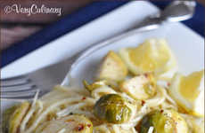 Healthy Brussel Sprout Pastas - Very Culinary's Healthy Pasta Recipe is Perfect for Spring